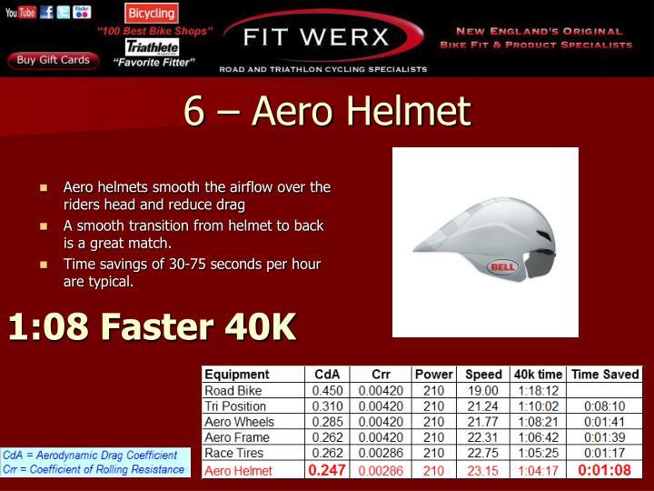 6 – Aero Helmet