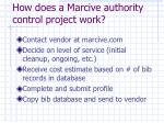 how does a marcive authority control project work