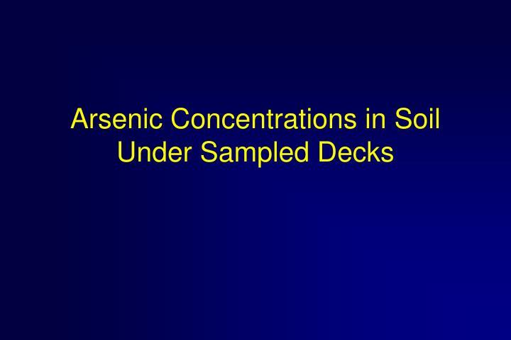 Arsenic Concentrations in Soil Under Sampled Decks