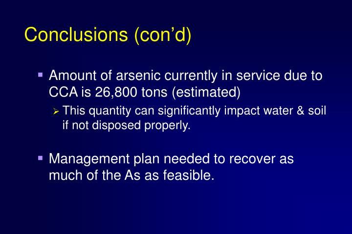 Conclusions (con'd)