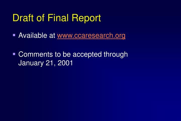Draft of Final Report