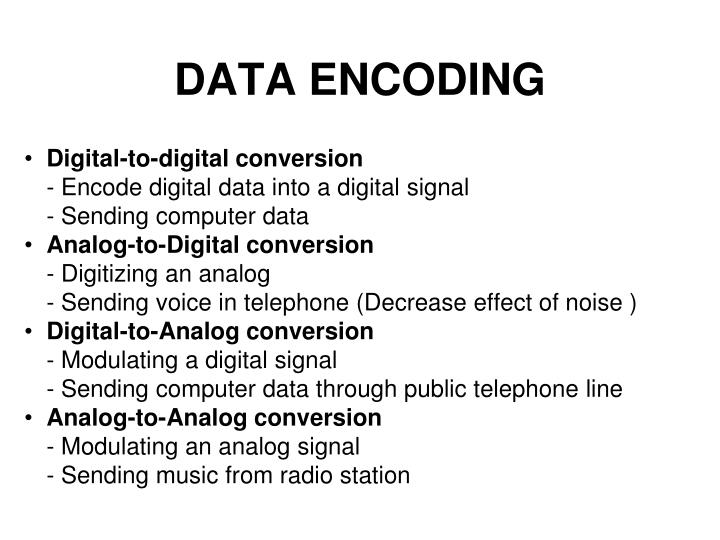 data encoding n.