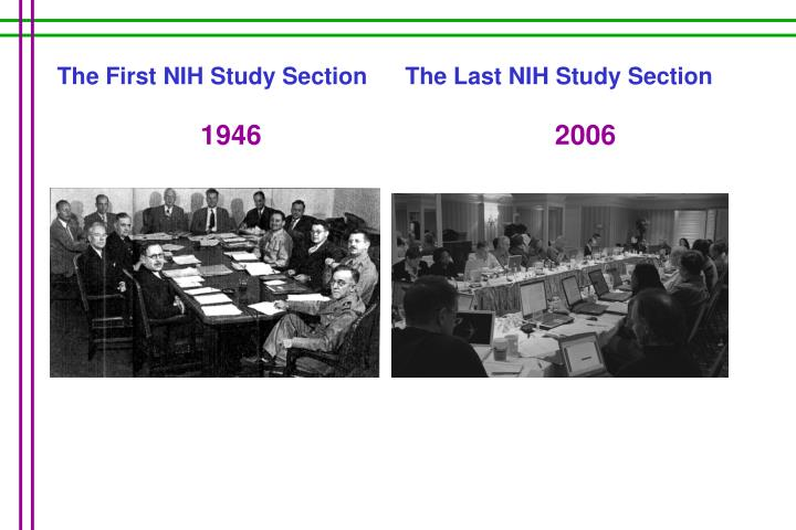 The Last NIH Study Section