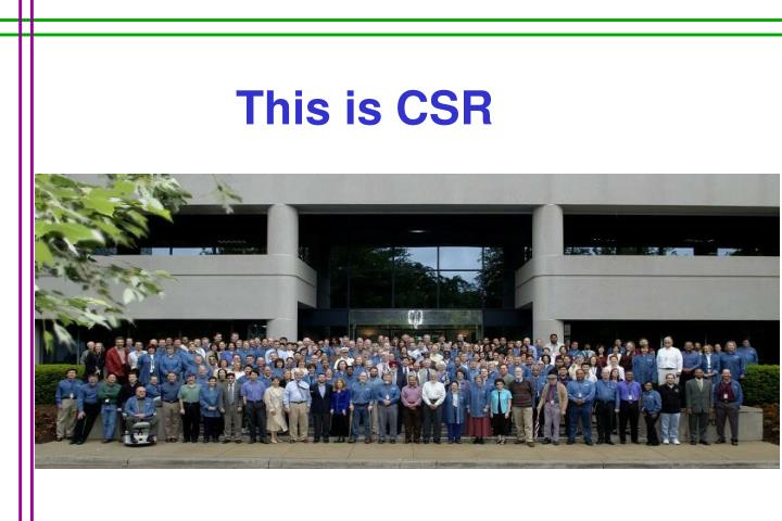 This is CSR