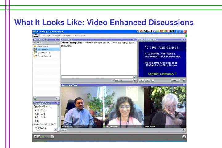What It Looks Like: Video Enhanced Discussions