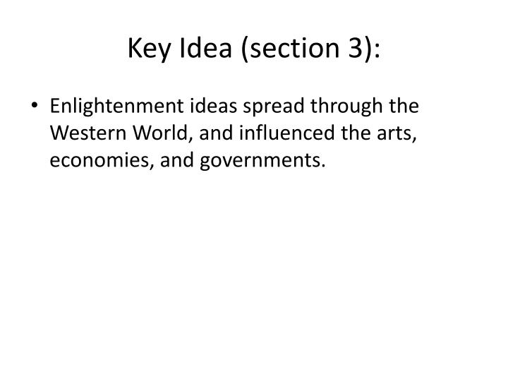 Key Idea (section 3):