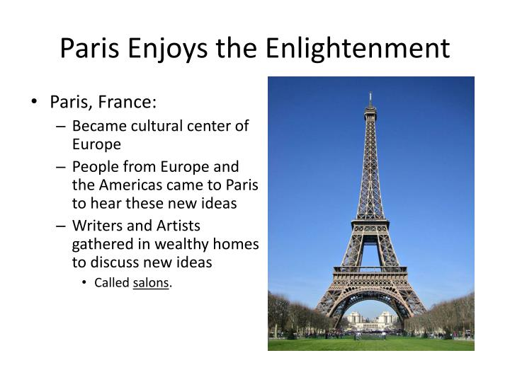 Paris Enjoys the Enlightenment