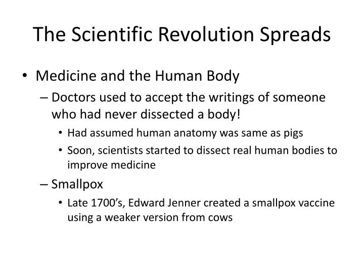The Scientific Revolution Spreads