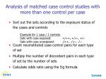 analysis of matched case control studies with more than one control per case