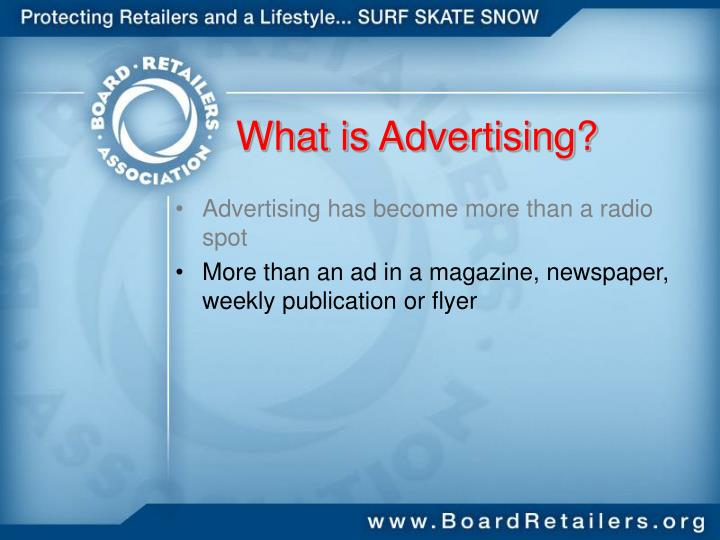 What is Advertising?