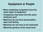 equipment or people