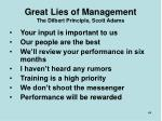 great lies of management the dilbert principle scott adams