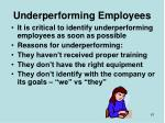 underperforming employees
