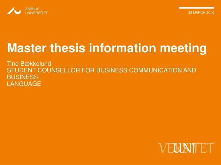 master thesis in Thesis help precision consulting many of our master's thesis clients come to us with a completed thesis and need help revising the work based on specifically.