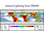annual lightning from trmm