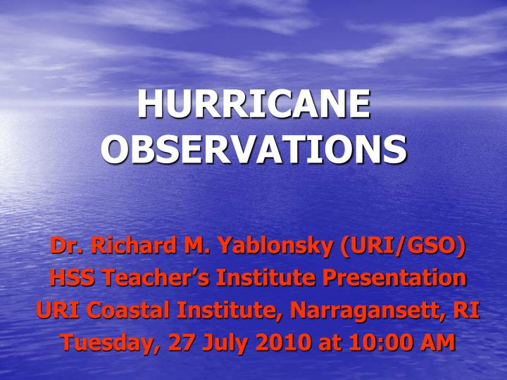 hurricane observations
