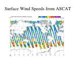 surface wind speeds from ascat