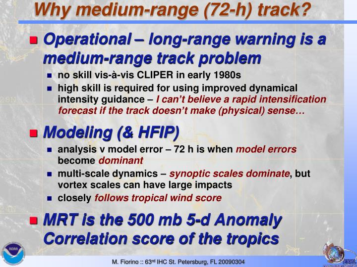 Why medium range 72 h track