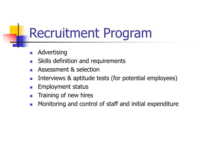 Recruitment Program