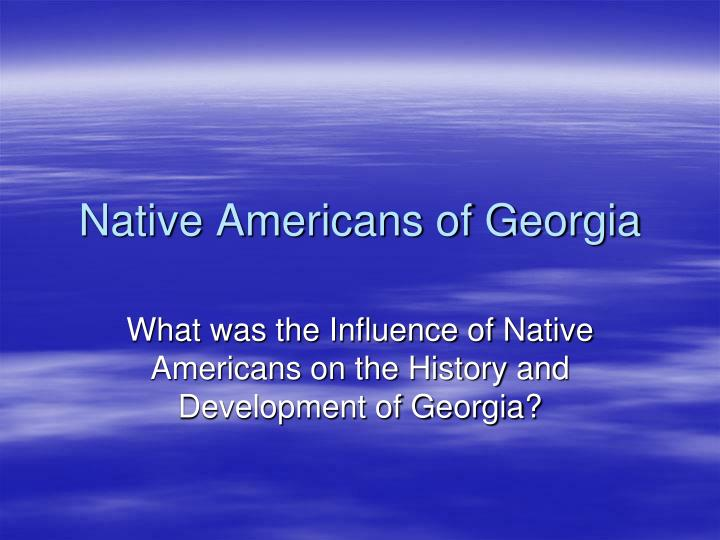 native americans of georgia n.