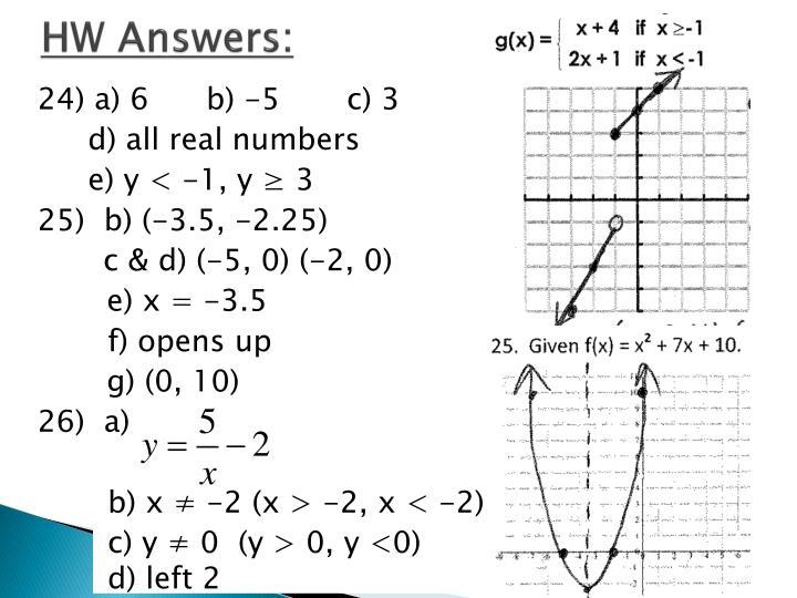 HW Answers: