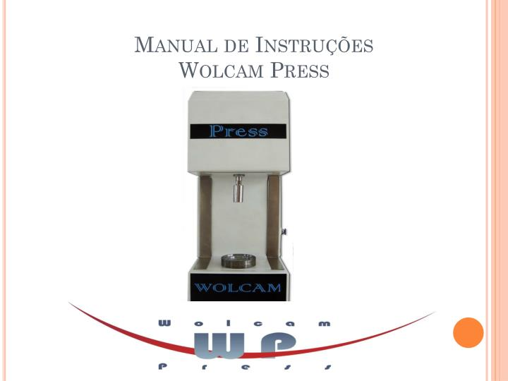 Manual de instru es wolcam press