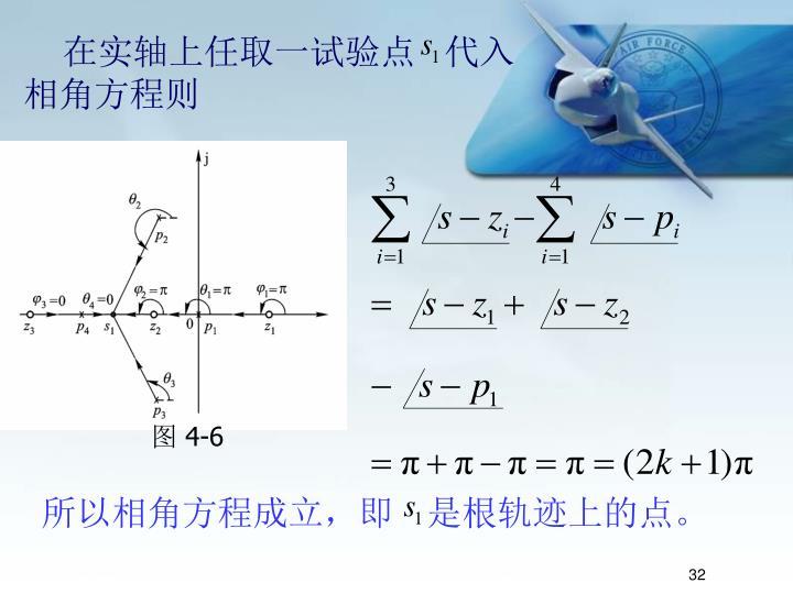 所以相角方程成立,即   是根轨迹上的点。