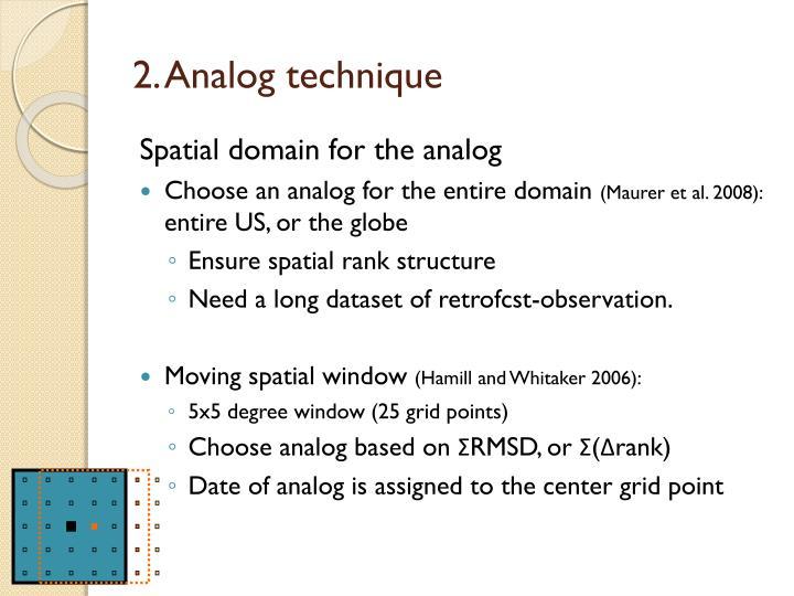 2. Analog technique