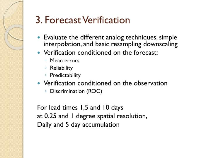 3. Forecast Verification