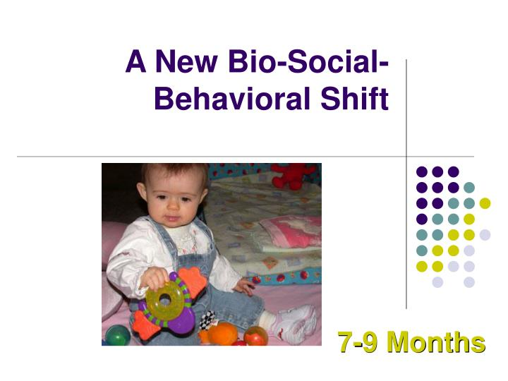 A New Bio-Social-Behavioral Shift