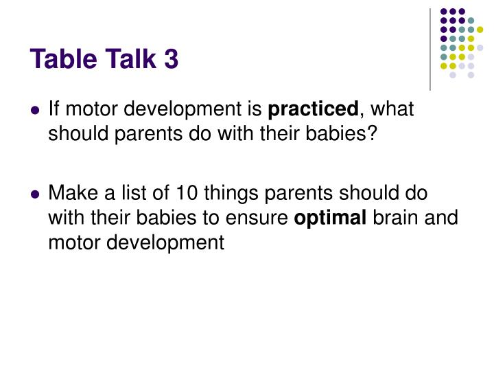 Table Talk 3