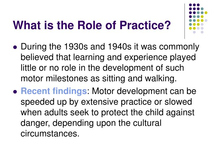 What is the Role of Practice?