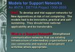 models for support networks an anta detya project 1999 2000