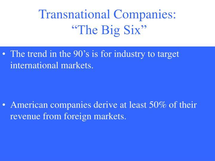 Transnational Companies: