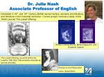 dr julie nash associate professor of english