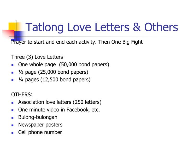 Tatlong Love Letters & Others