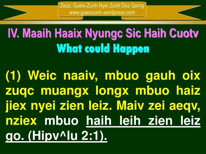 IV. Maaih Haaix Nyungc Sic Haih Cuotv