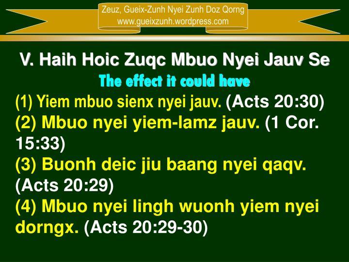 V. Haih Hoic Zuqc Mbuo Nyei Jauv Se