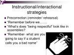 instructional interactional strategies