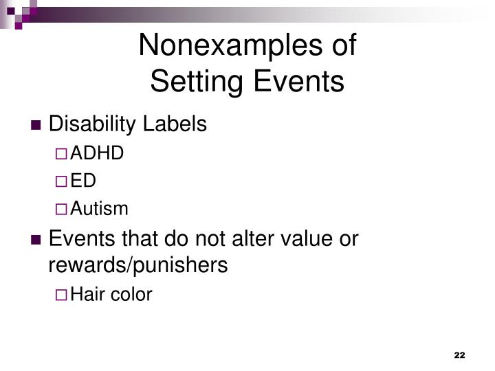 Nonexamples of