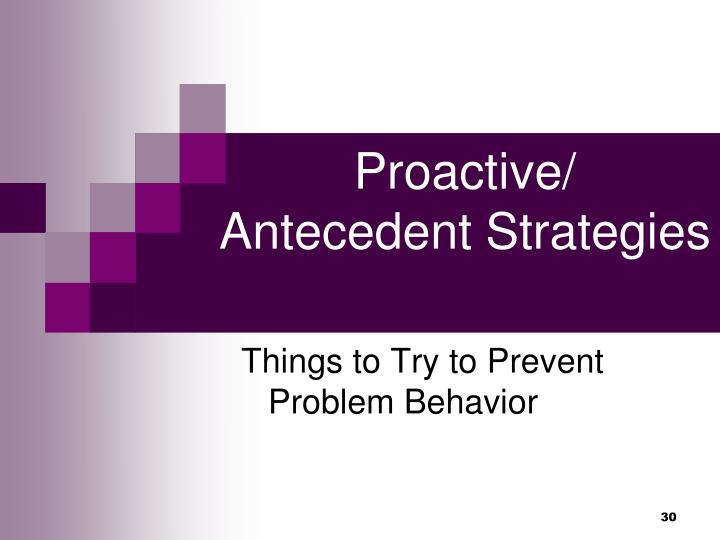 Proactive/