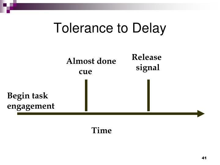 Tolerance to Delay