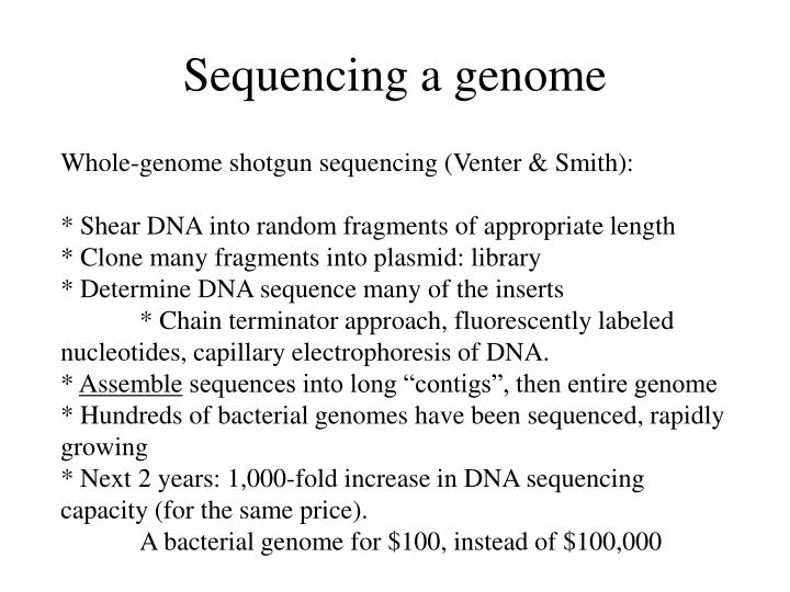Sequencing a genome