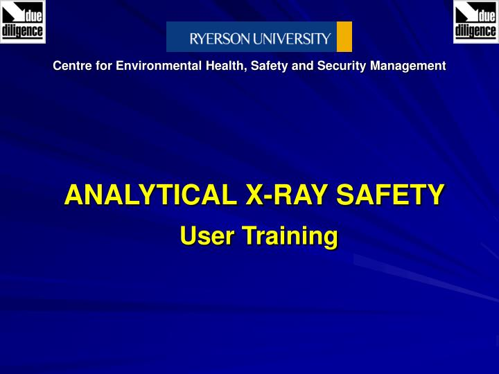 analytical x ray safety user training n.