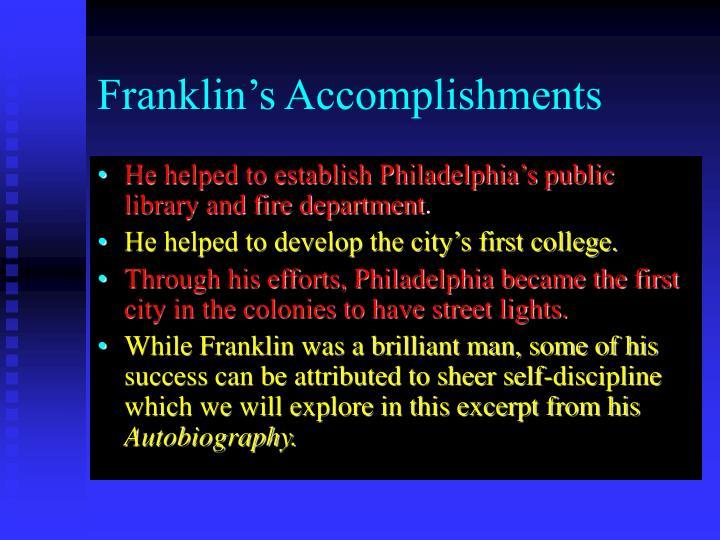 Franklin s accomplishments