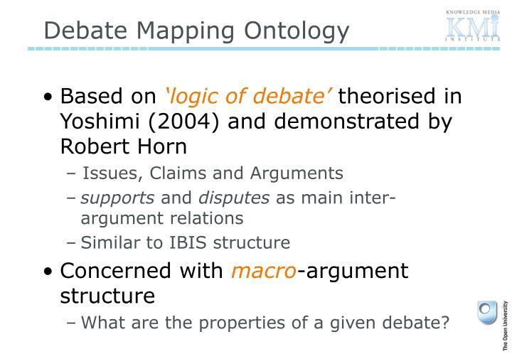 Debate Mapping Ontology
