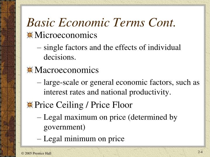 macro economic factors Various economic factors need to be taken into account when determining the current and expected future value of a business or investment portfolio for a business, key economic factors include labor costs, interest rates, government policy , taxes and management.