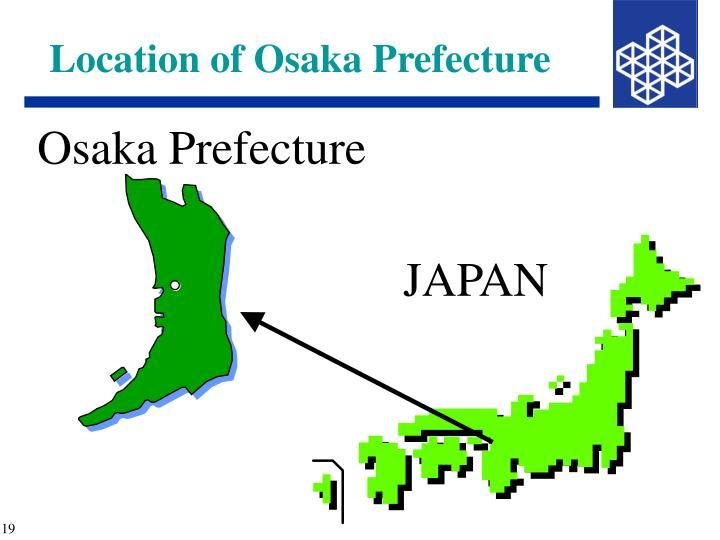 Location of Osaka Prefecture