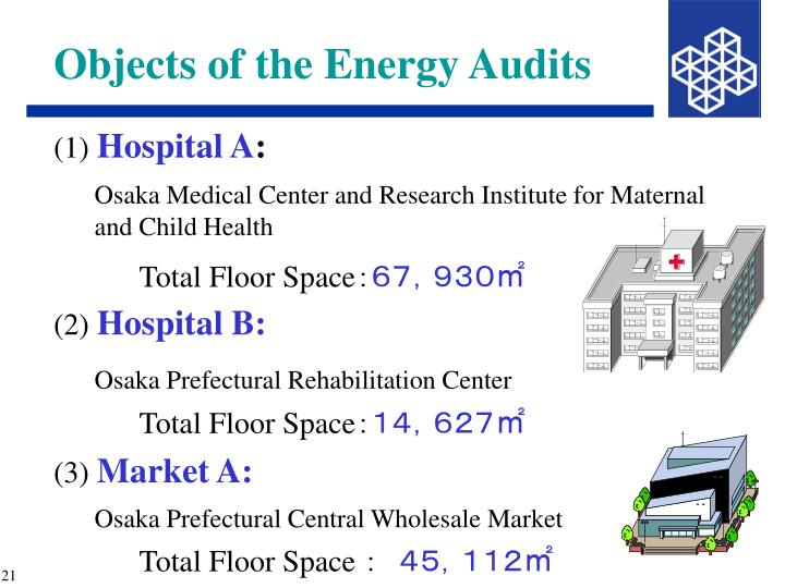 Objects of the Energy Audits