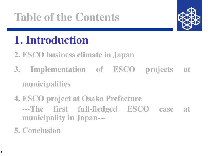 Table of the contents1